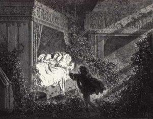 Gustave Doré, Illustration for Charles Perrault's La Belle au Bois Dormant in Les Contes de Perrault, 1867