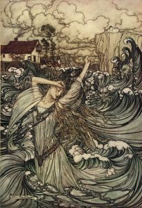 Arthur Rackham, illustration to Undine, 1909.
